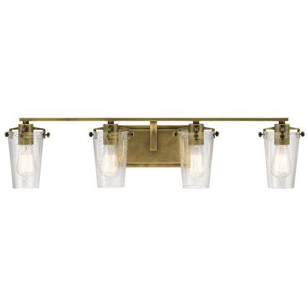 Kichler Alton 4 Light Vanity Light Natural Brass