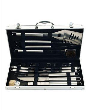 New 19-Piece Heavy Duty Grill Tool Set with Case for Sale in Lorain, OH