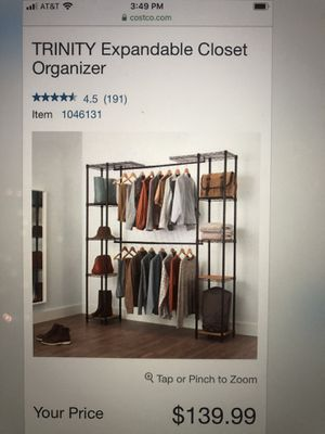 Expandable closet organizer (Costco) for Sale in Tacoma, WA