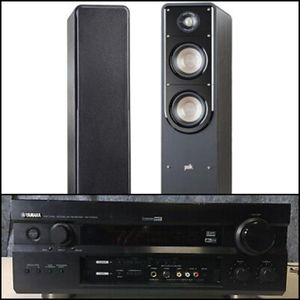 NEW POLK AUDIO SIGNATURE S50 SPEAKERS & YAMAHA RX-V1300 AMPLIFIER for Sale in Maricopa, AZ