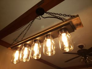 Handcrafted Farmhouse/Industrial Light for Sale in St. Petersburg, FL