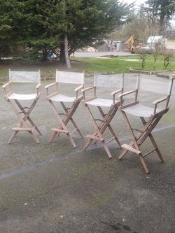 Cecily Wooden Director Chairs Set Of 4 for Sale in Tacoma,  WA