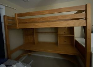 Bunk bed with desk underneath for Sale in Elmwood Park, IL