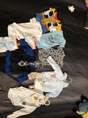 Baby boy new clothes 0-3 months - ropa de Niño nueva for Sale in Stafford, TX