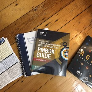 PMBOK 6th Edition Barely Used, Quick Study Sheets, Agile Practice Guide for Sale in Boston, MA