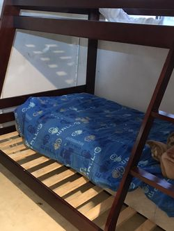 Litera De Madera // wooden bunk bed with, dresser and twin mattress for Sale in Oakland,  CA