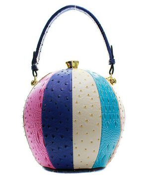 Fashion Faux Leather Color Block Ostrich Ball Handbag for Sale in Jacksonville, FL