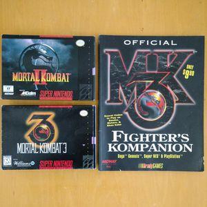Mortal Kombat 2 + 3 + guide for Sale in Laurel, MD