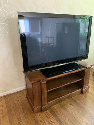 58 inch Panasonic TV 1080p with custom entertainment center for Sale in Fairfax, VA