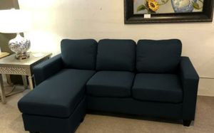 Blue Fabric Sofa Chaise for Sale in Portland, OR