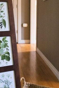 Free standing dark wood photo frame tower for Sale in Snohomish,  WA