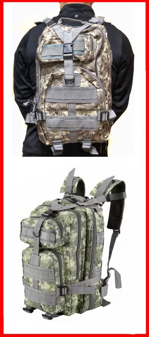 NEW! Camouflage Tactical Military style Backpack travel bag work bag hiking biking camping hydration bag school bag gym bag molle for Sale in Los Angeles, CA