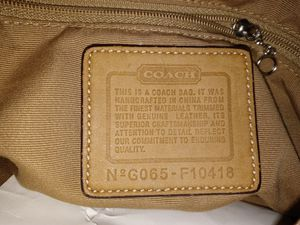 Authentic Coach purse, shoulder strap for Sale in Overland, MO