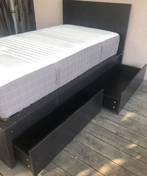 IKEA twin bed with 2 storages and mattress for Sale in San Jose, CA