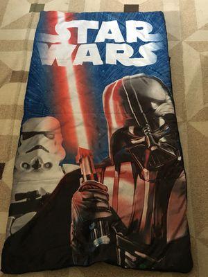 Kids Star Wars sleeping bag- nylon- 4 1/2 feet long $8 for Sale in Fresno, CA