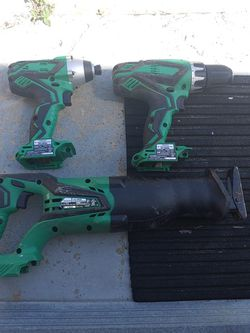 Hitachi Cordless 18v Hammer Drill, Reciprocating saw, Impact Drill for Sale in New Port Richey,  FL