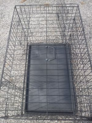 LARGE DOG CAGE FOR LARGE & MED. SIZE DOGS (NEW) EXCELLENT CONDITION DOUBLE DOORS BOTTOM TRAY INCLUDED FREE DEL POSS. for Sale in Philadelphia, PA