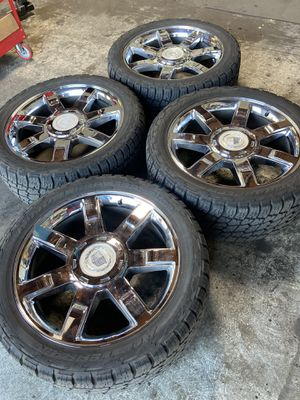 Cadillac Wheels and tires 305/40/ R 22all-terrain for Sale in Portland, OR