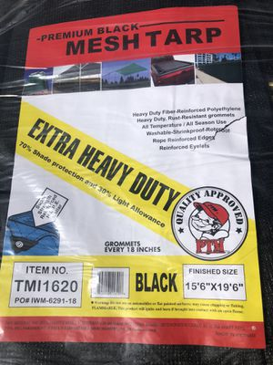 Brand NEW extra heavy BLACK mesh tarp for Sale in Montebello, CA
