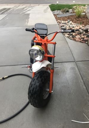 three items one mini bike racing pipes and a pocket rocket for Sale in Littleton, CO