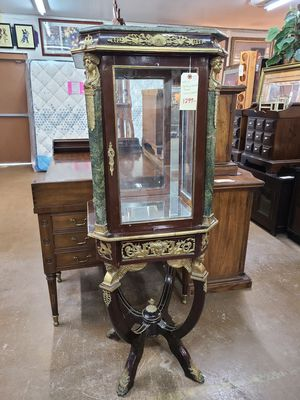 Curio Cabinet Antique French 🌞 Another Time Around Furniture 2811 E. Bell Rd for Sale in Phoenix, AZ