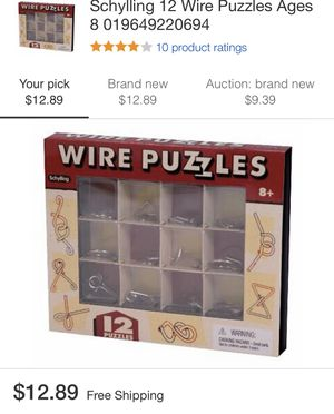 Games 12 wire puzzles by schylling for Sale in Alta Loma, CA