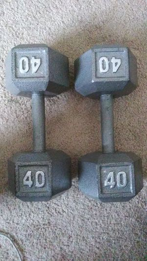 2 40lbs Dumbbells for Sale in Austin, TX
