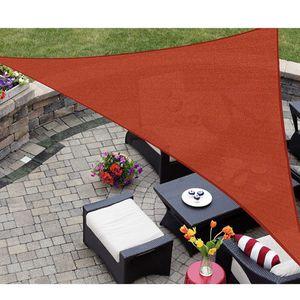 Outdoor Sun Shade Sail Triangle 16' x 16' x 16' UV Block Canopy for Patio Backyard Lawn Garden Outdoor Activities, Terra for Sale in Walnut, CA
