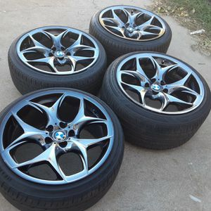 20 Inches rims BMW Chrome Gloss black Wheels 5 lugs 5x120 bolt pattern fif on other cars too for Sale in Riverside, CA