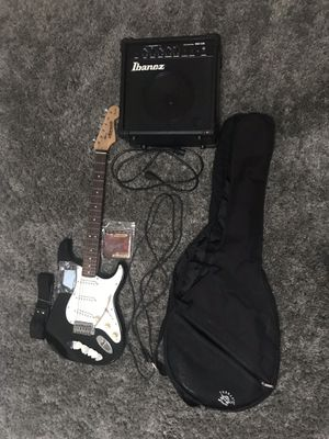 Star caster Fender electric guitar and amp for Sale in Riverside, CA