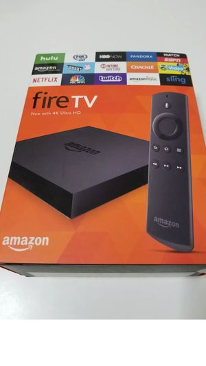 New amazon fire tv 4k box movies shows channels for Sale in San Leandro, CA