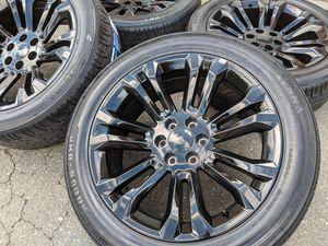 "22"" GMC Sierra 1500 Yukon Denali Wheels Tires P285 45R22 Rims 285 45 for Sale in Charlotte, NC"