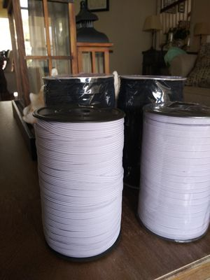 """1/4"""" elastic black 144 yards for $25 for pick up only!! for Sale in Moreno Valley, CA"""