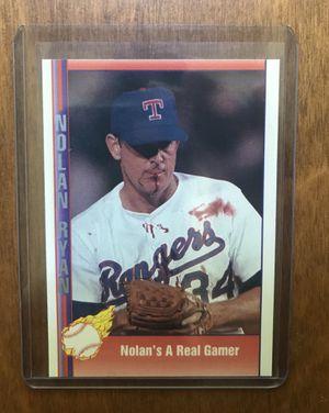 Rare! Nolan Ryan bloody lip card for Sale in Raleigh, NC