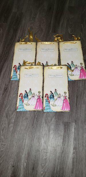 Decorative Disney Designer Princess Gift Bags Set for Sale in Las Vegas, NV