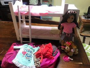 American girl doll with accessories for Sale in New Port Richey, FL