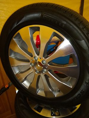4 nice 20 inch rims with new pirelli tires for Sale in Tacoma, WA