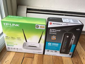 Router and modem for Sale in Woodbridge Township, NJ