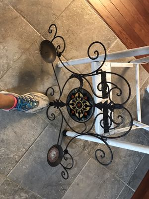 Iron candle holder, wall deco for Sale in Mechanicsburg, PA
