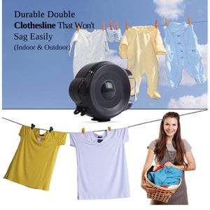 Brand New Drynatural Retractable Clothesline Outdoor Indoor Laundry Line - 99 FT Double Lines Heavy Duty Wall Mounted Washing Line, Portable Clothes D for Sale in Auburn, WA