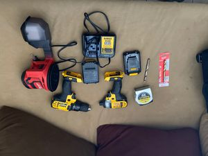 Brand new dewalt impact and drill and palm sander with tips for Sale in Sheridan, CO
