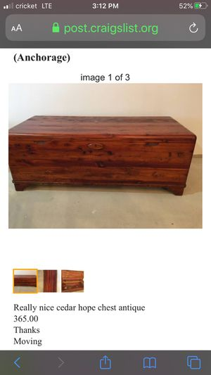 Antique hope chest for Sale in Anchorage, AK