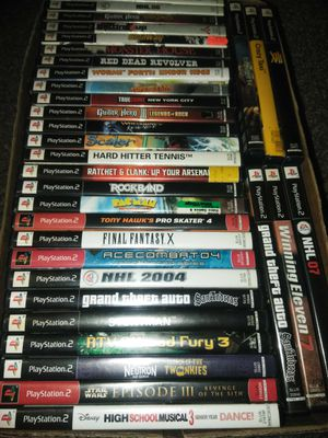 33 ps2 games $100 or best offer for Sale in Buffalo, NY