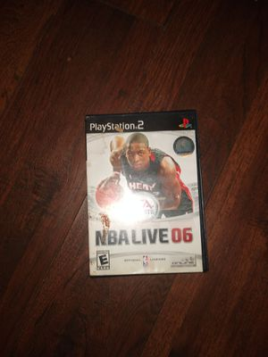 NBA live 06 PlayStation 2 excellent condition no scratches for Sale in Seattle, WA