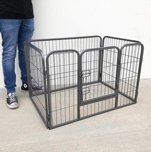 """Brand new $55 Heavy Duty 37""""x25""""x24"""" Pet Playpen Dog Crate Kennel Exercise Cage Fence, 4-Panels Play Pen for Sale in Pico Rivera, CA"""