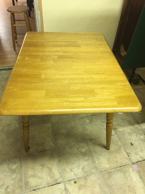 Wooden Kitchen Table with Folding Leaves for Sale in Tampa, FL