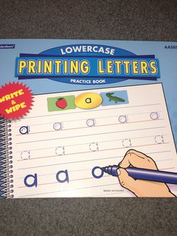 NEW Lowercase Printing Letters Practice Book by Lakeshore Learning for Sale in Cupertino,  CA