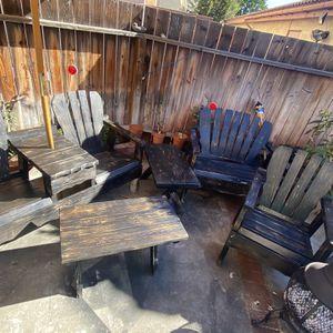 Rustic Patio Furniture 6 PCs for Sale in Garden Grove, CA