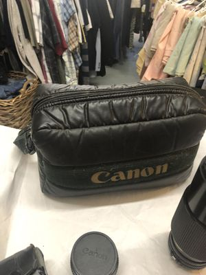 Canon AE-1 Lenses, Electric Power Winder, and Camera Bag for Sale in Ontario, CA