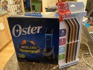 Oster Blender and Stainless Straws for Sale in Belmont, CA